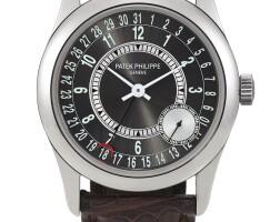 45. patek philippe | calatrava, reference 6000 a white gold wristwatch with date, circa 2008