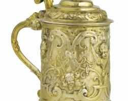 2. petite chope couverte en vermeil, probablement allemagne, vers 1650