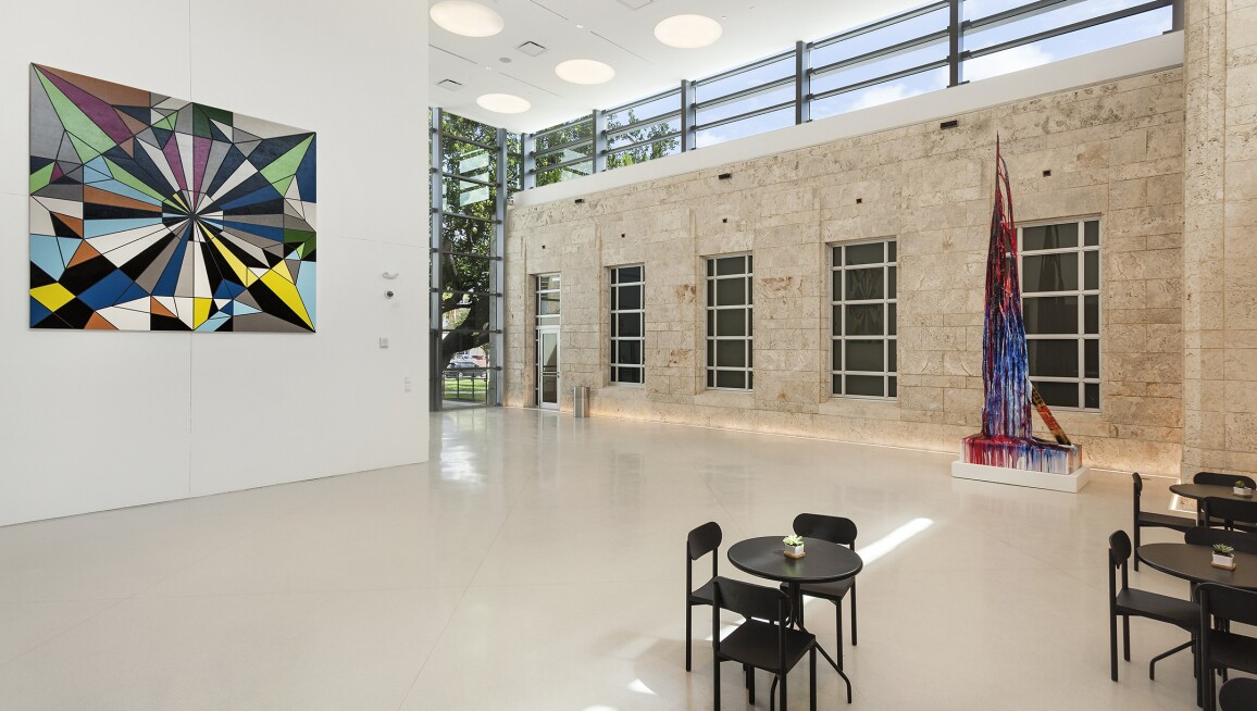 Interior view of the new courtyard at The Bass