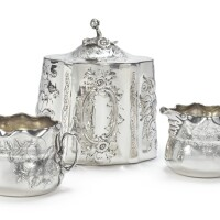 42. an american silver creamer and sugar bowl, whiting mfg. co., new york, ny, late 19th century  