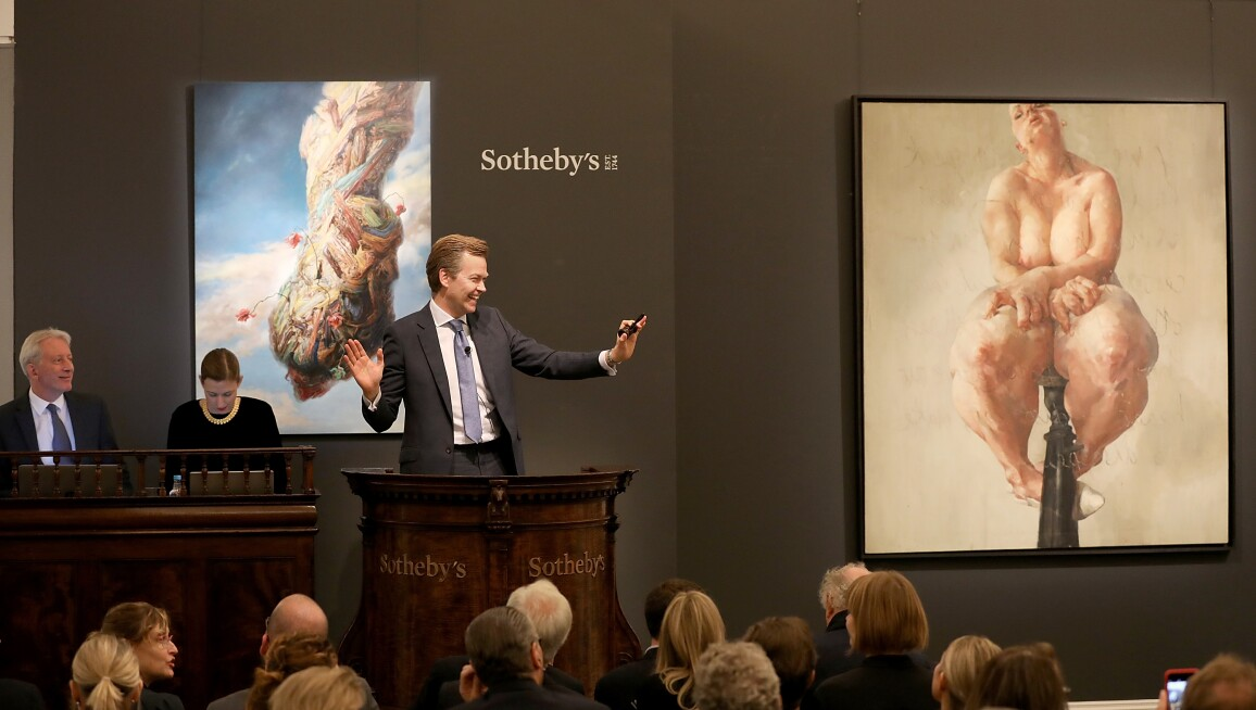 Sotheby's Contemporary Art Evening Auction Jenny Saville