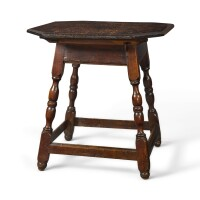 6006. william and mary walnut and pine splayed-legged tavern table, chester county, pennsylvania, circa 1750
