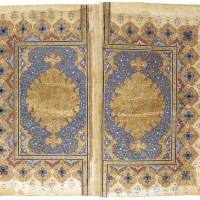 37. a large illuminated qur'an, copied by ahmad ibn ilyas, persia or india,late16th/early 17th century