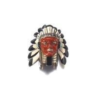 6. gold, enamel and diamond clip, 'sioux', cartier, circa 1938