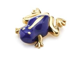 506. lapis lazuli brooch, tiffany & co