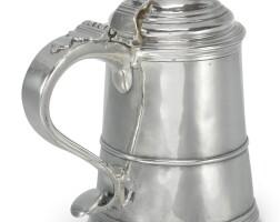 4006. an american silver tankard, william cowell, jr., boston, circa 1760