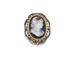35. agate and enamel jewel, berini and morelli, first quarter of the19th century and later