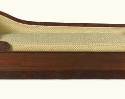 156. an empire style mahogany chaise longue circa 1900