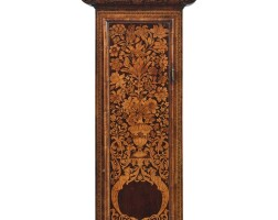 9. a william and mary walnut and fruitwood marquetry longcase clock, circa 1690, dial signed isaac lowndes in ye pall mall