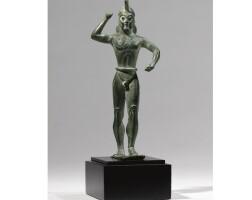 4. a greek bronze figure of a warrior, circa 530-520 b.c.