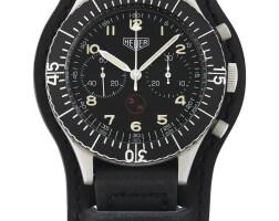 200. 豪雅(heuer)   1550sg型號「bundeswehr」精鋼軍用飛返計時腕錶,年份約1970。