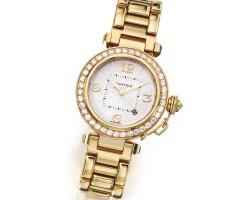 10. 18 karat gold and diamond 'pasha' wristwatch, cartier