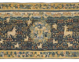 """2. a """"millefleurs"""" tapestry, circa 1510, southern netherlands 
