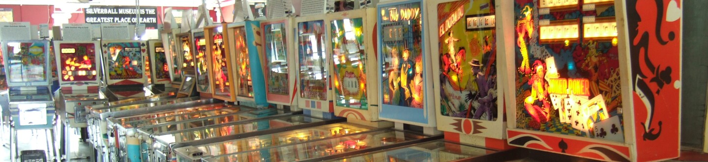 Interior view of Silverball Museum Arcade.