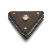 331. a rare gem-set and gold-mounted wood pin cushion, circa 1910