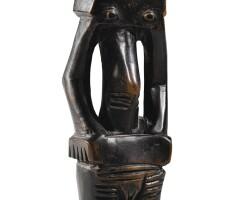 138. statue, luba, république démocratique du congo  