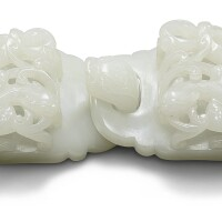 29. a white jade 'chilong' two-part belt buckle qing dynasty, 18th century