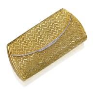 7. 18 karat gold and diamond evening bag