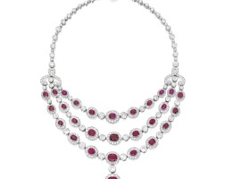 24. ruby and diamond necklace