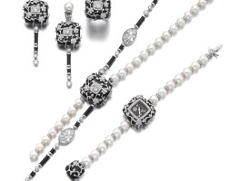 23. 養殖珍珠、縞瑪瑙配白水晶及鑽石「ombre de charme」首飾套裝, 香奈兒(chanel)