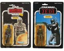 4. two star wars boba fett action figures, circa1980