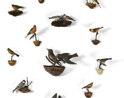 3. austria, 20th century | fifteen bird-form wall appliques