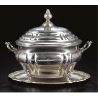 15. a royal german silver tureen and cover on stand, maker's mark ihr of ihk and standard 12, probably hanover, circa 1843