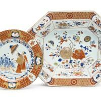 1101. chinese export imari octagonal basin circa 1725