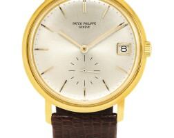 186. 百達翡麗(patek philippe) | 3445型號「calatrava」黃金腕錶備日期顯示,1964年製。