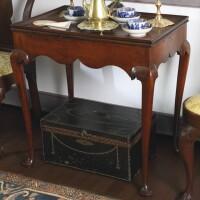 699. queen anne tray top tea table, new england, circa 1760