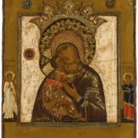 557. volokolamskaya mother of god, russian, 19th century |