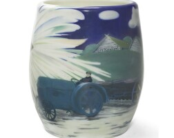 621. a soviet porcelain anniversary vase, lomonosov state porcelain manufactory, 1928