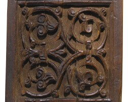 85. a fatimid carved wooden plaque, egypt or jazira, circa 12th century