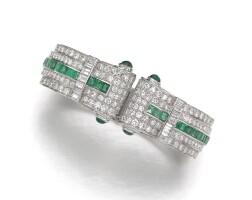 9. emerald and diamond bangle, 1930s