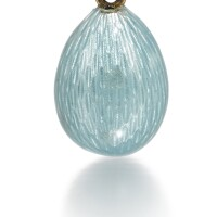 312. a fabergé enamel egg pendant, workmaster feodor afanassiev, st petersburg, circa 1895