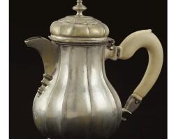 17. a royal german silver coffee pot, possibly johann heinrich muhlenpfordt, gottingen, circa 1760