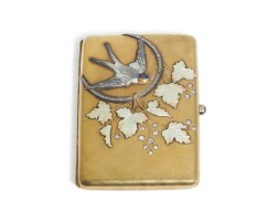 Preview. a jewelled gold and enamel cigarette case, possibly german, for the russian market, circa 1910 |