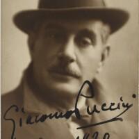 206. puccini, giacomo. fine postcard photograph