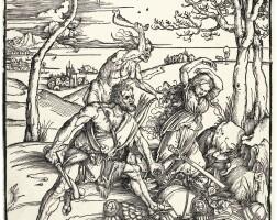 12. albrecht dürer | hercules conquering cacus (b. 127; m., holl. 238)