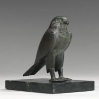 12. an egyptian bronze figure of a falcon, late period, 716-30 b.c.