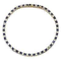 48. sapphire and diamond necklace, late 19th century