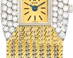 128. piaget | limelight, reference 9148 a two-tone gold and diamond-set bracelet watch, circa 1960