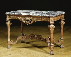 209. a carved giltwood table in louis xiv style, 19th century