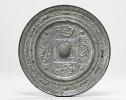 115. an important bronze 'zodiac' mirror with inscription sui dynasty