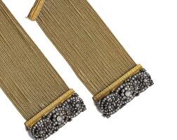 15. pair of gold and diamond bracelets