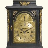 50. a george iii brass-mounted ebonised table clock, william smith, london, circa 1775