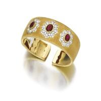 1606. 紅寶石配鑽石手鐲, buccellati