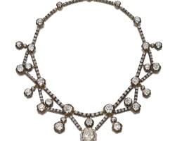 13. diamond necklace, circa 1890 and later