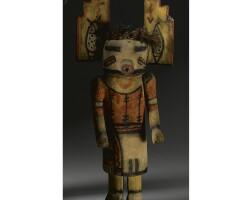 5. a hopi polychrome wood kachina doll, attributed to wilson tawaquaptewa