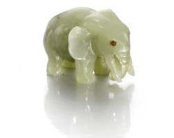 551. ahardstone elephant, probably fabergé, circa 1910